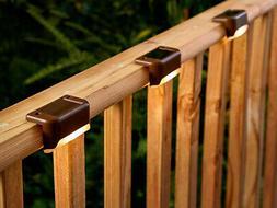 8 Packs Solar Powered LED Deck Lights Outdoor Path Garden St