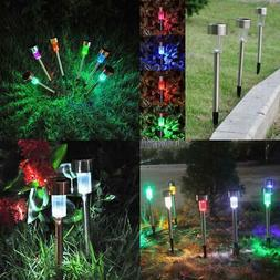 5X Color Changing LED Solar Powered Lights Outdoor Garden La