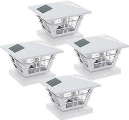 GreenLighting 5x5 Solar Powered Post Cap Light w/ 4x4 Base A