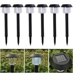 6 LED Solar Power Outdoor Path Light Spot Lamp Yard Garden L