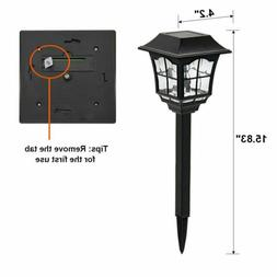 Maggift 6 Lumens Solar Pathway Lights for Lawn Patio Yard Pa