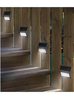 6 New LED Solar Step Lights Patio Deck Staircase Outdoor Wal