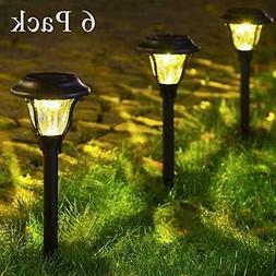 6 Pack Garden Solar Lights Pathway Landscape Lamps Waterproo