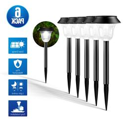 6 Pack Garden Solar Lights Pathway Landscape Lamps Waterproo