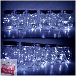 6-Pack Mason Jar Lights 20 LED Solar Colorful Fairy String L