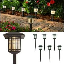 6 Pack Outdoor LED Solar Light Lamp Landscape Pathway Garden