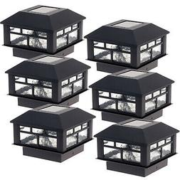 6 pack outdoor patio solar powered modern