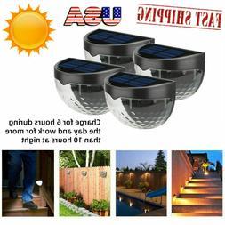 6 Pack Outdoor Solar Power Garden Lamp 6 LED Fence Wall-Moun