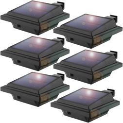 6 Pack Solar Gutter Lights Outdoor Upgrade 25 LEDs Solar Wal