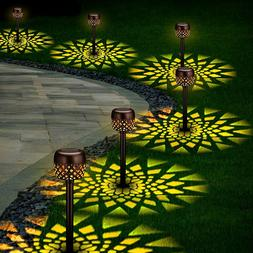 6 Pack Solar Pathway Lights Outdoor, Solar Garden Decorative