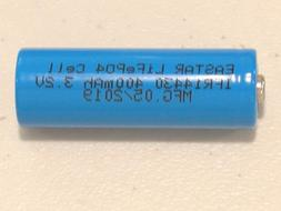 6 pc IFR 14430 3.2v LiFePO4 RECHARGEABLE BATTERY 400mAh sola