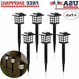 6 Pcs Outdoor Garden Solar Power Pathway Lights Landscape La