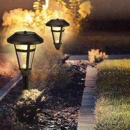 GIGALUMI 6 Pcs Solar Lights Outdoor, Bronze Finshed, Glass L