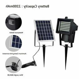 60 LED Solar Flood Lights Outdoor Security Floodlight Garden