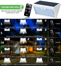 60 LED Solar Sensor Lights Outdoor Wall Yard Garden Solar La