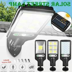 600W LED Solar Wall Light Motion Sensor Outdoor Garden Secur