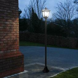 "65"" Street Vintage Outdoor Garden LEDs Bulb Solar Lamp Post"