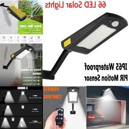 66 LED Solar Lights Outdoor Waterproof PIR Motion Sensor Gar