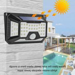 66LED Solar Power Wall Light Motion Sensor 3 Modes Waterproo