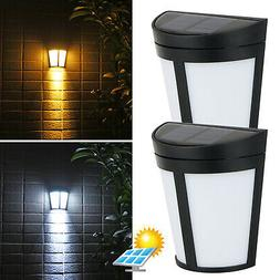 Solar Power 6 LED Wall Mount Light Outdoor Garden Path Way F