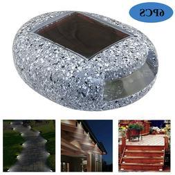 6pcs LED Solar Stone Lamp Outdoor Garden Lawn Night Light Wa