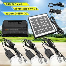 6V Solar Panel + 5V 3000mAh Solar Power Bank USB Charger + 3