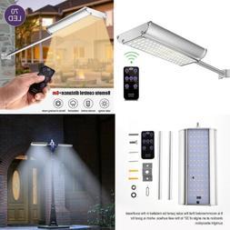 70 LED Solar Street Wall Light Motion Sensor Outdoor Park Se