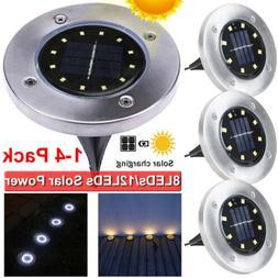 8/12 LED Solar Power Decking Lights Ground Floor Outdoor Gar