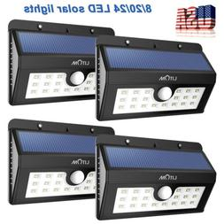 Litom 8/20/24 LED Solar Power Motion Sensor Outdoor Waterpro