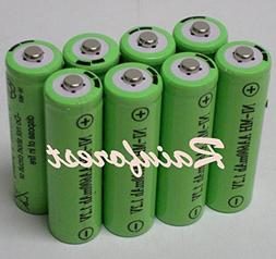 8 Piece Set AA Ni-mh 600mah 1.2v Rechargeable Batteries for