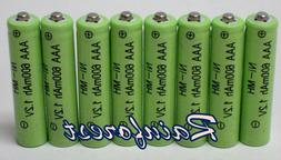 8 Piece Set AAA Ni-mh 600mah 1.2v Rechargeable Batteries