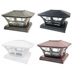 8 Black / Bronze / Brown / White 6 x 6 Solar Post Deck Cap F