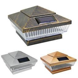 8 Copper / Silver / Vintage Bronze Solar 5 LEDs Post Deck Ca