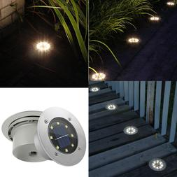 8 LED Solar Buried Floor Light Under Ground Lamp Outdoor Gar