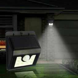 8 led solar powered pir outside motion