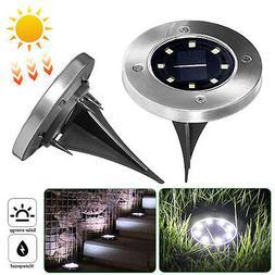 8 LEDs Waterproof Solar Ground Lights Outdoor for Landscape