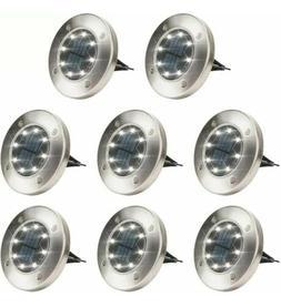 8 pack solar ground lights 8 led