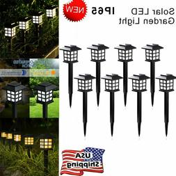 GIGALUMI 8 Pack Solar Pathway Lights LED Outdoor Garden Yard