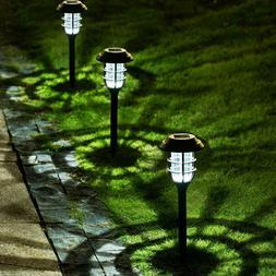 8 Pack Solar Pathway Lights Outdoor Garden Waterproof Led Pa