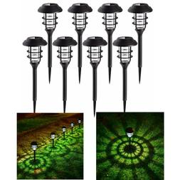 8Pcs Solar Pathway Lights Waterproof LED Outdoor Garden Land