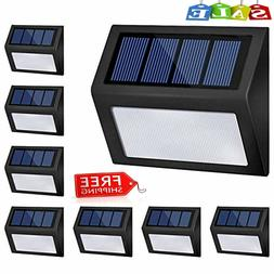 8 Packs Solar Lights Outdoor, Solar Powered Step Lights Wire