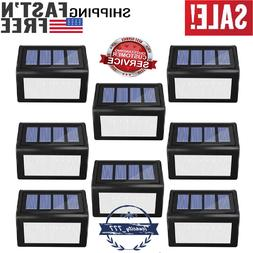 8 Pack Solar Step Lights Outdoor 6 LED Solar Deck Wireless W