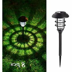 8 pcs solar lights outdoor pathway waterproof