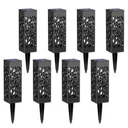 Maggift 8 Pcs Solar Powered LED Garden Lights, Automatic Led
