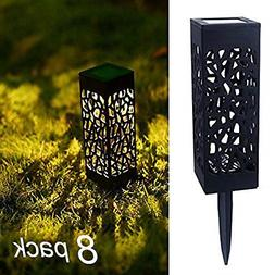 8 Pcs Solar Powered LED Garden Lights Automatic Led for Pati