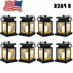 8 sets Solar Umbrella Lantern Waterproof Solar Lights Flicke