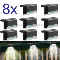 8 Solar LED Bright Deck Lights Outdoor Garden Patio Railing