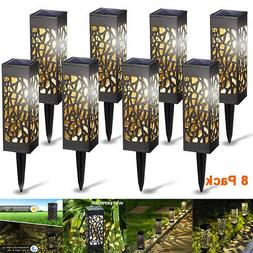 8 X LED Landscape Solar Lights Waterproof Wall Light Garden