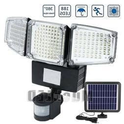 8000LM Solar Security Motion Sensor Flood Light 188 LED Adju