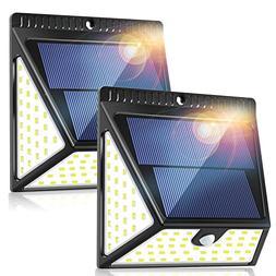82 LEDs Solar Motion Sensor Lights Outdoor, ZOOKKI Super Bri
